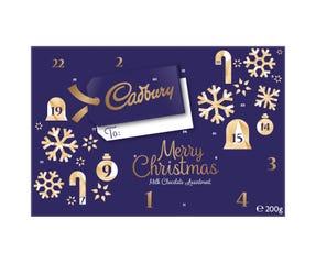 Cadbury Merry Christmas Advent Calendar Milk Chocolate Assortment 200g