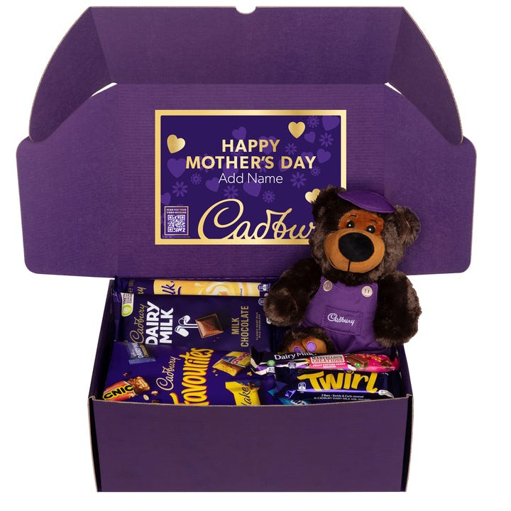 Cadbury Favourites Hamper with Bear with optional Video Message