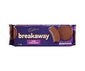 Cadbury Breakaway Milk Chocolate biscuits 180g