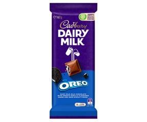 Cadbury Dairy Milk with Oreo milk chocolate block 162g