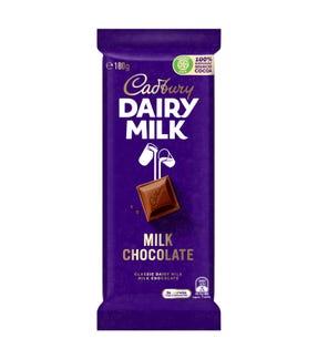 Cadbury Dairy Milk Chocolate Classic milk chocolate block 180g