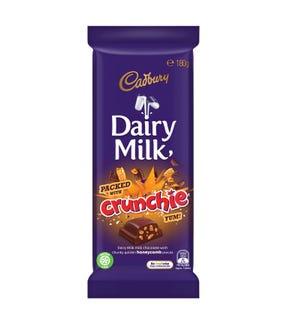 Cadbury Dairy Milk Crunchie milk chocolate block 180g
