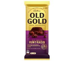 Cadbury Old Gold Dark Chocolate Old Jamaica Rum N Raisin 180g