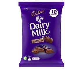 Cadbury Dairy Milk Chocolate 12 Pack 144g