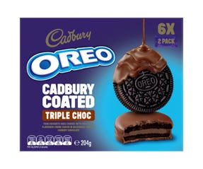 Oreo Cadbury Coated Triple Choc 204g