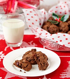 XMAS Cranberry Pecan Chocolate Cookies